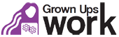 Grown Ups Work logo